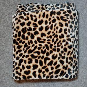 Leopard sherpa blanket!